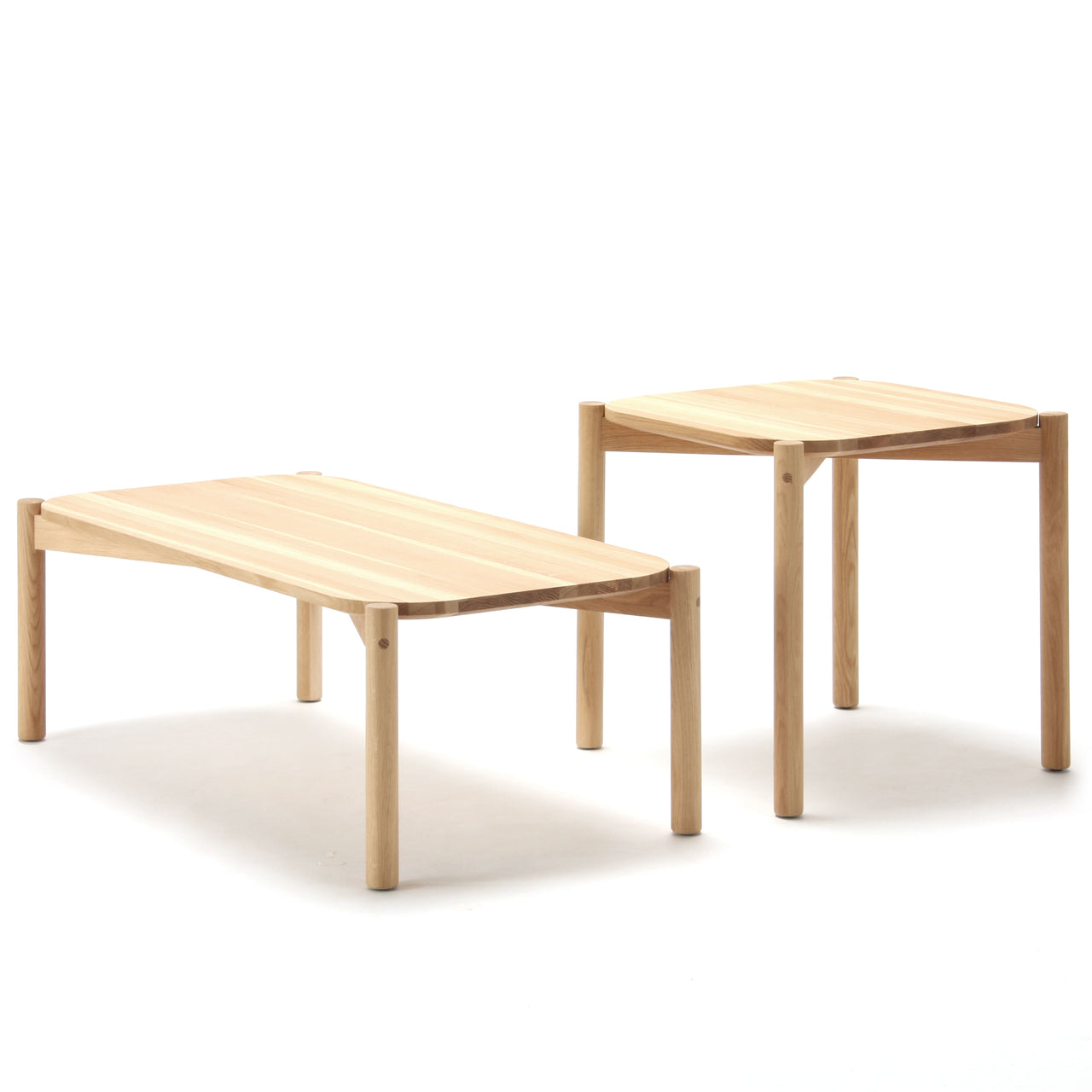 Castor Low Table: Side + Coffee: Small + Large