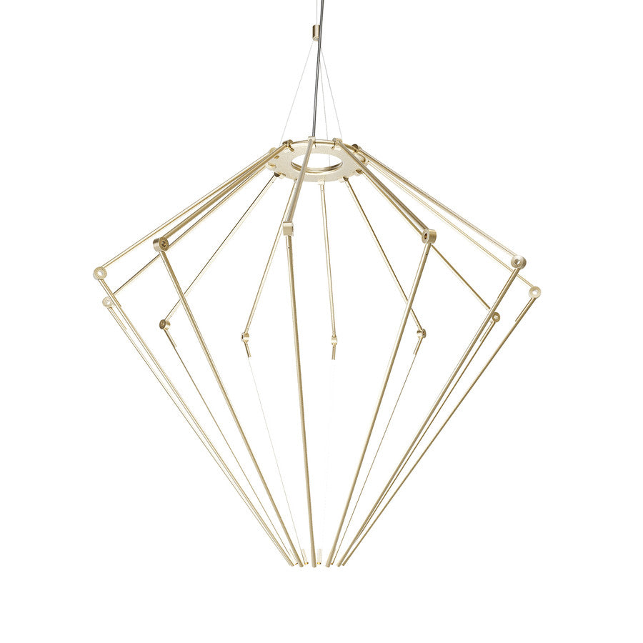 Thin Chandelier: Large + Satin Brass