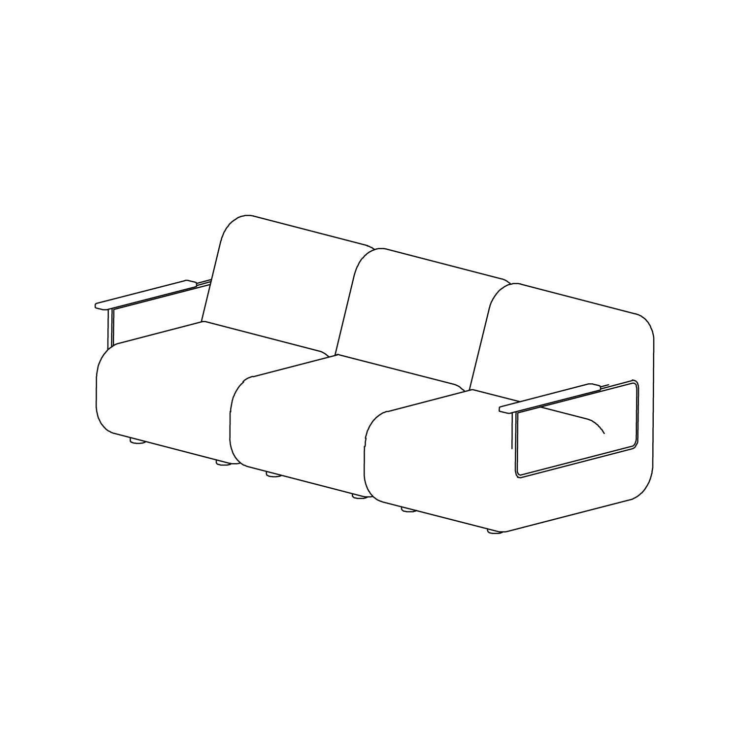 Gin Sofa - Configuration 2