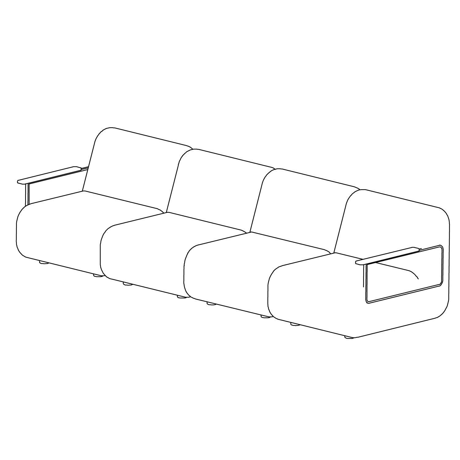Gin Sofa - Configuration 3