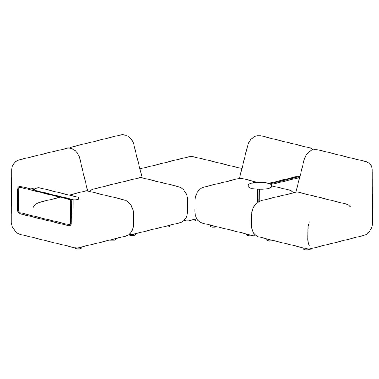 Gin Sofa - Configuration 4 Left