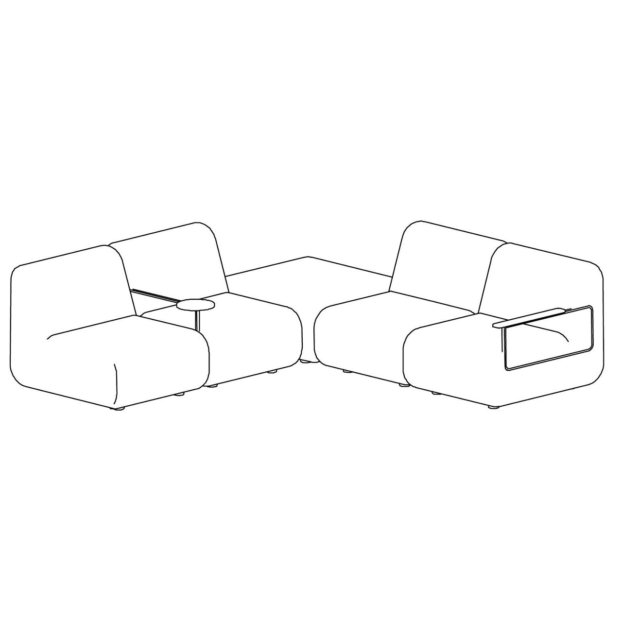 Gin Sofa - Configuration 4 Right