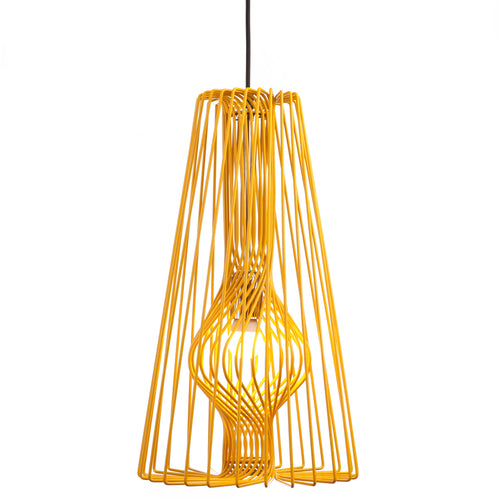 Wire Pendant Light: Yellow