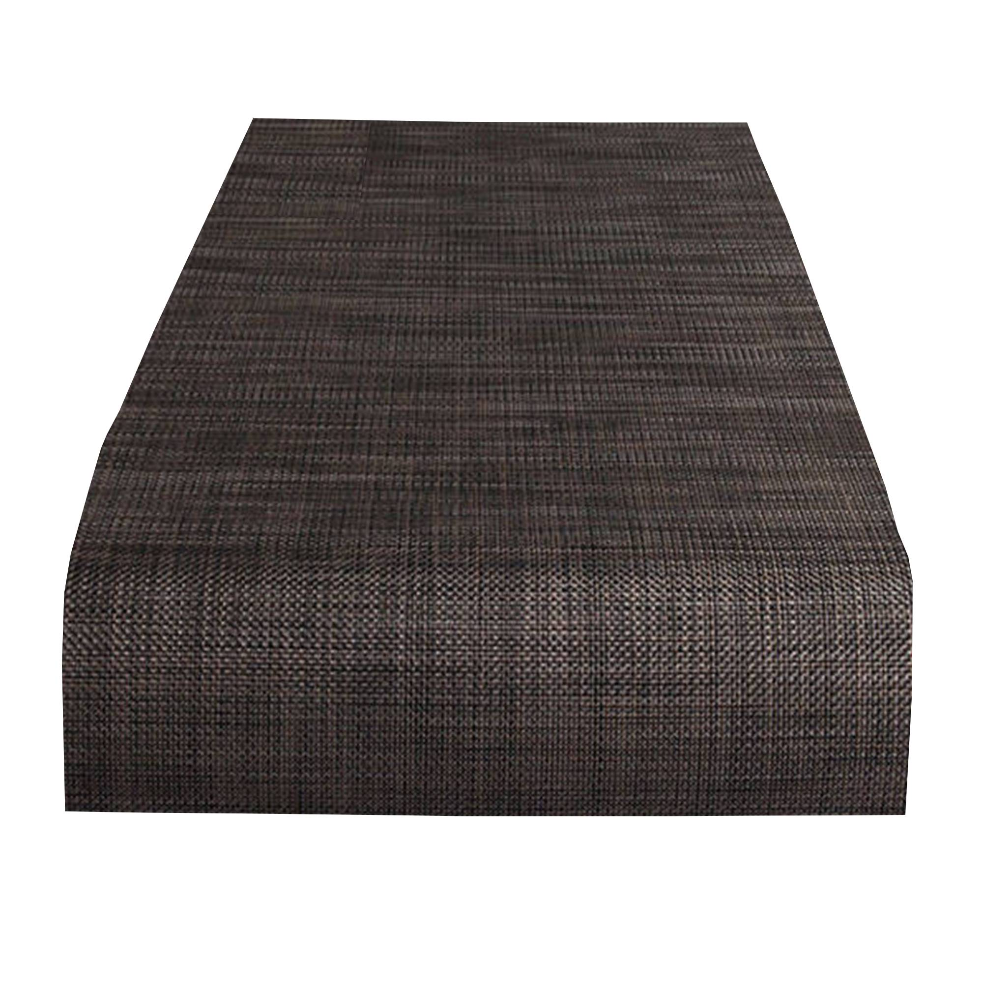 Mini Basketweave Table Runner: Dark Walnut