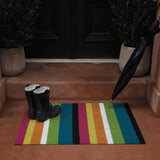 Bold Stripe Shag Indoor/Outdoor Floor Mat