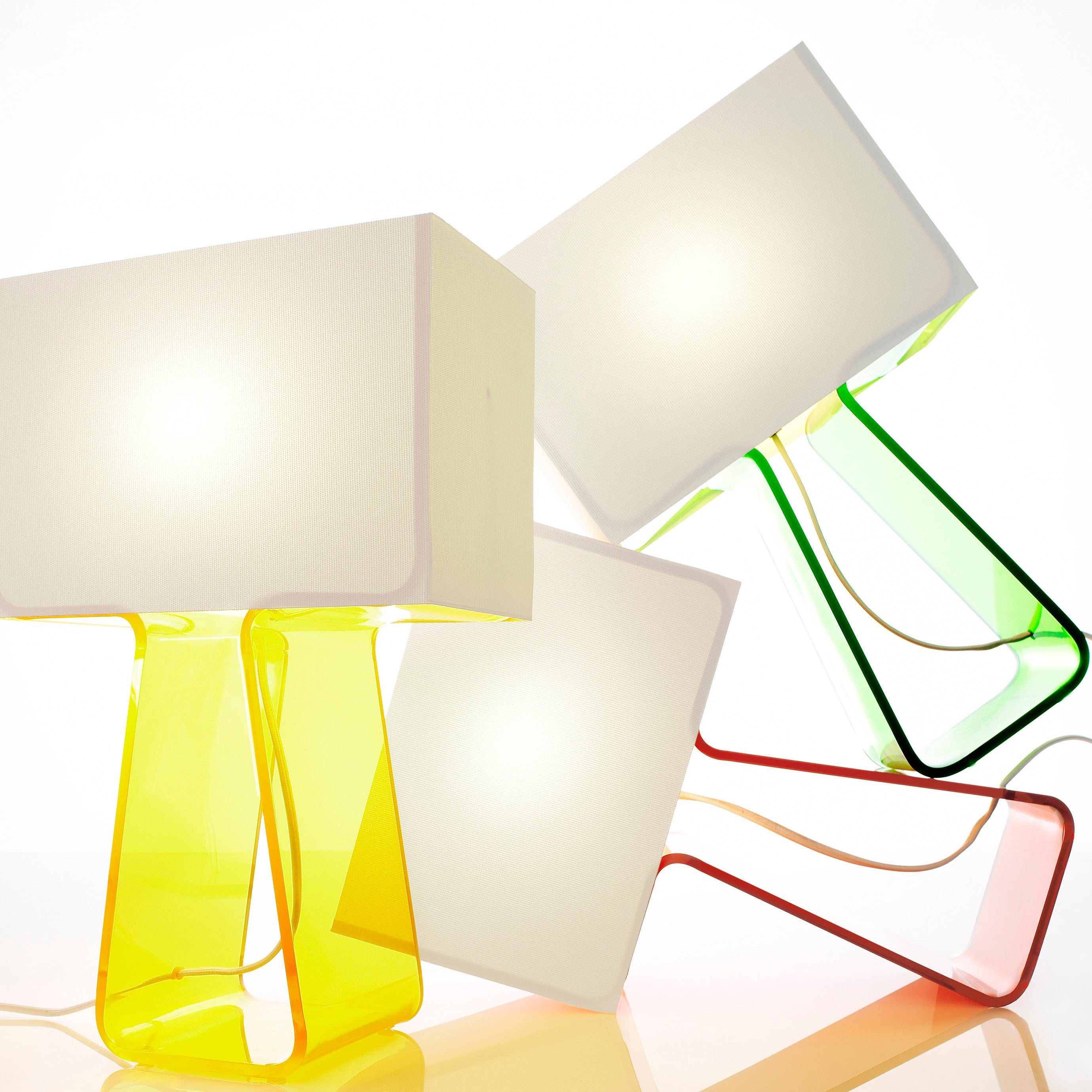 Tube Top Table Lamp: Array of Colors