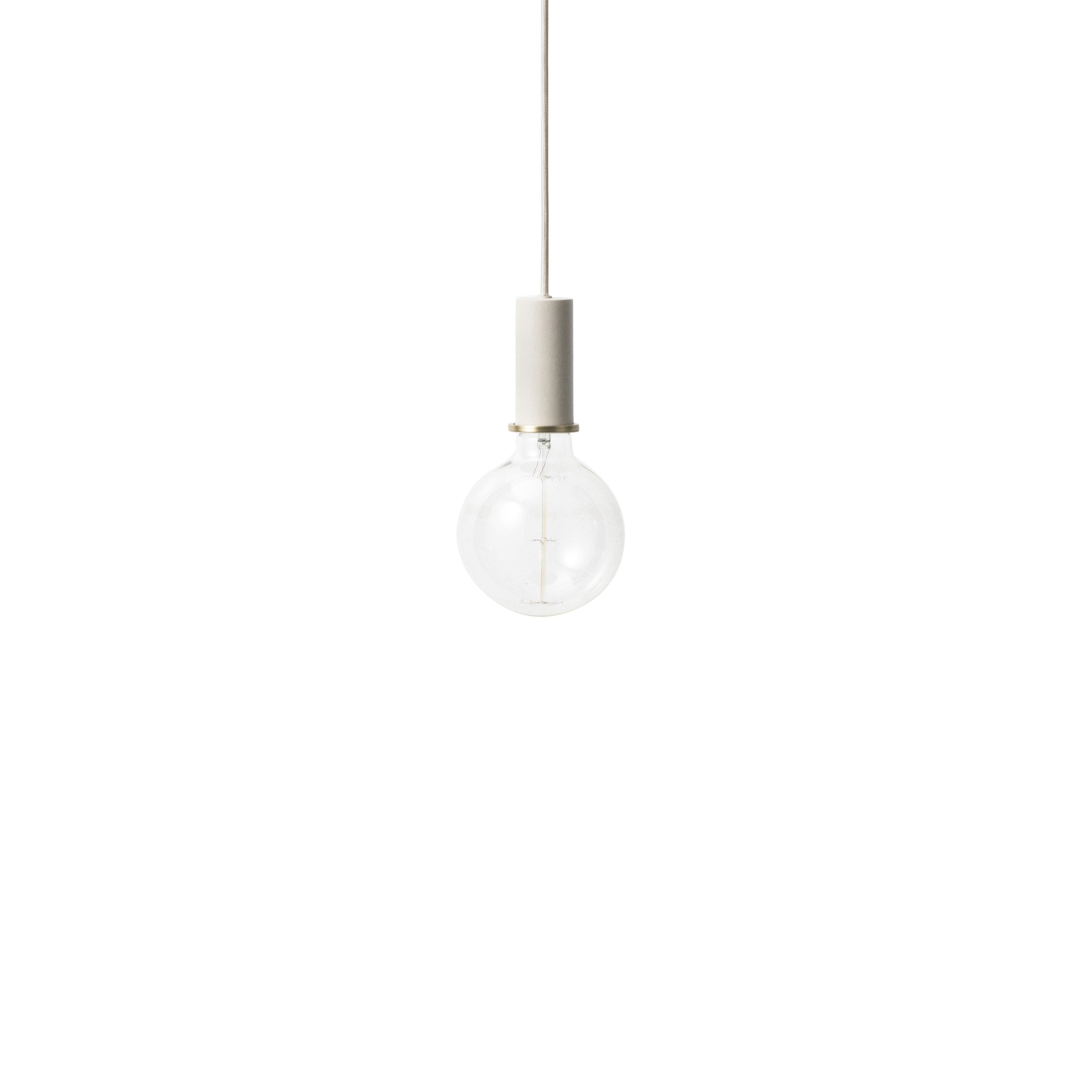 Collect Lighting: Pendant + Low + Light Grey