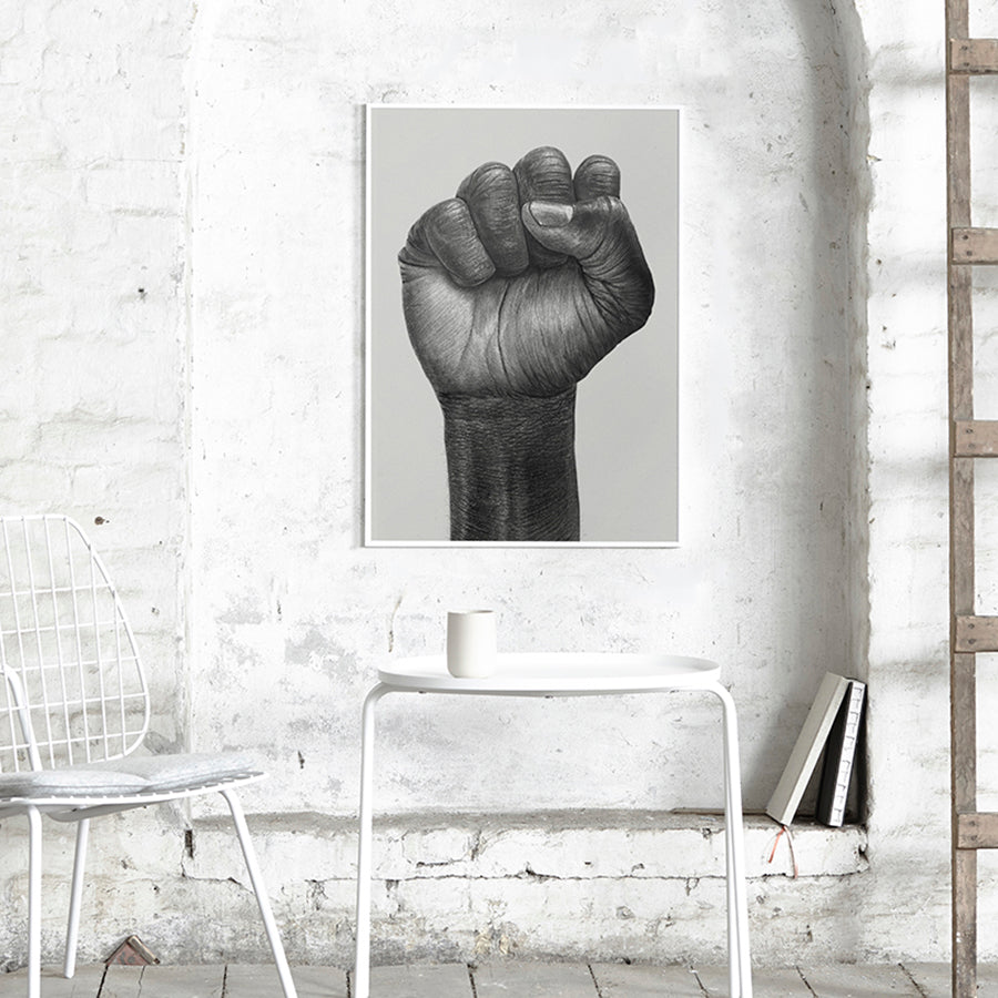 Raised Fist Designer Poster Series