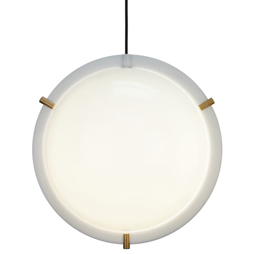 Clam Pendant Light: Opal + Brass