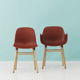 Form Armchair: Walnut or Oak Legs