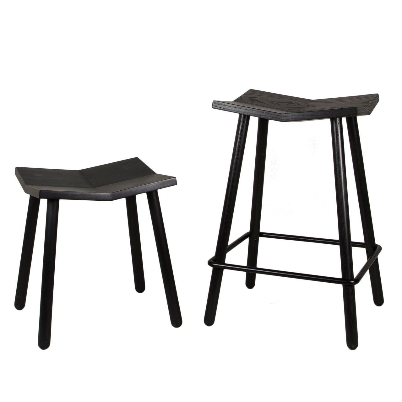 Mitre Footstool: Black + Low + Counter