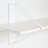 Strut Shelf + Shelving System: White + Whitened Ash
