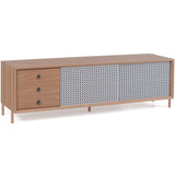 Gabin Sideboard: Large: Large with Drawers + Oak + Light Grey