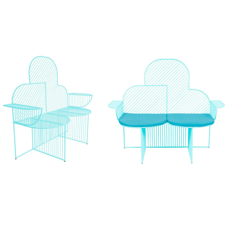 Cloud Bench: Aqua  (seat pad sold separately)