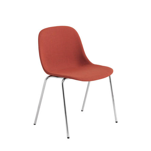 Fiber Side Chair A-Base Stackable: Upholstered