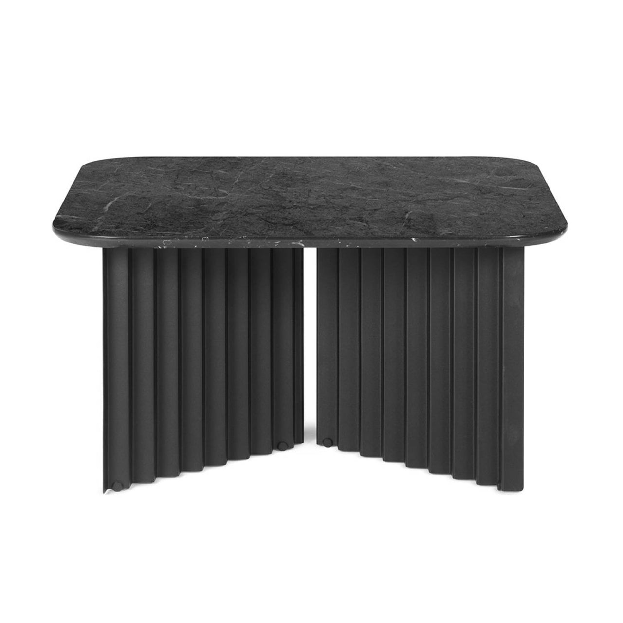 Plec Table: Marble Top: Medium + Black Marquina