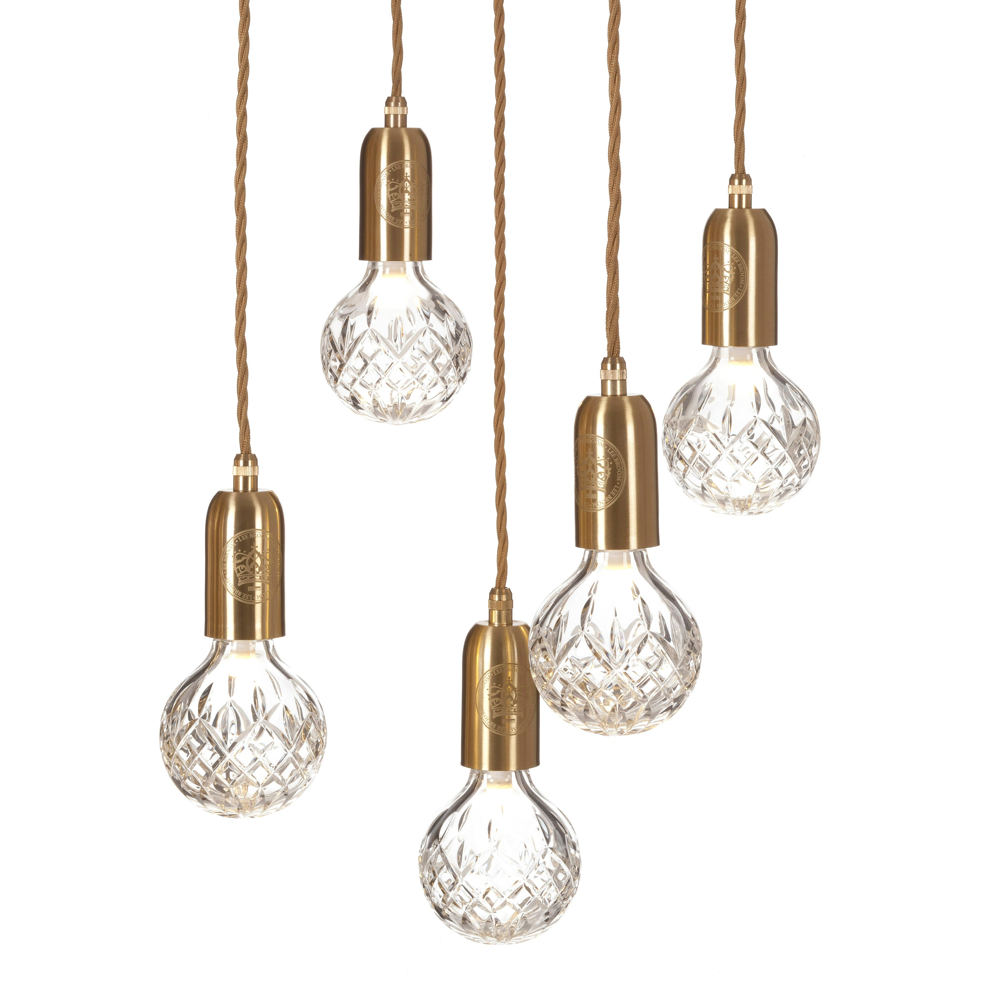 Crystal Bulb Chandelier: Clear