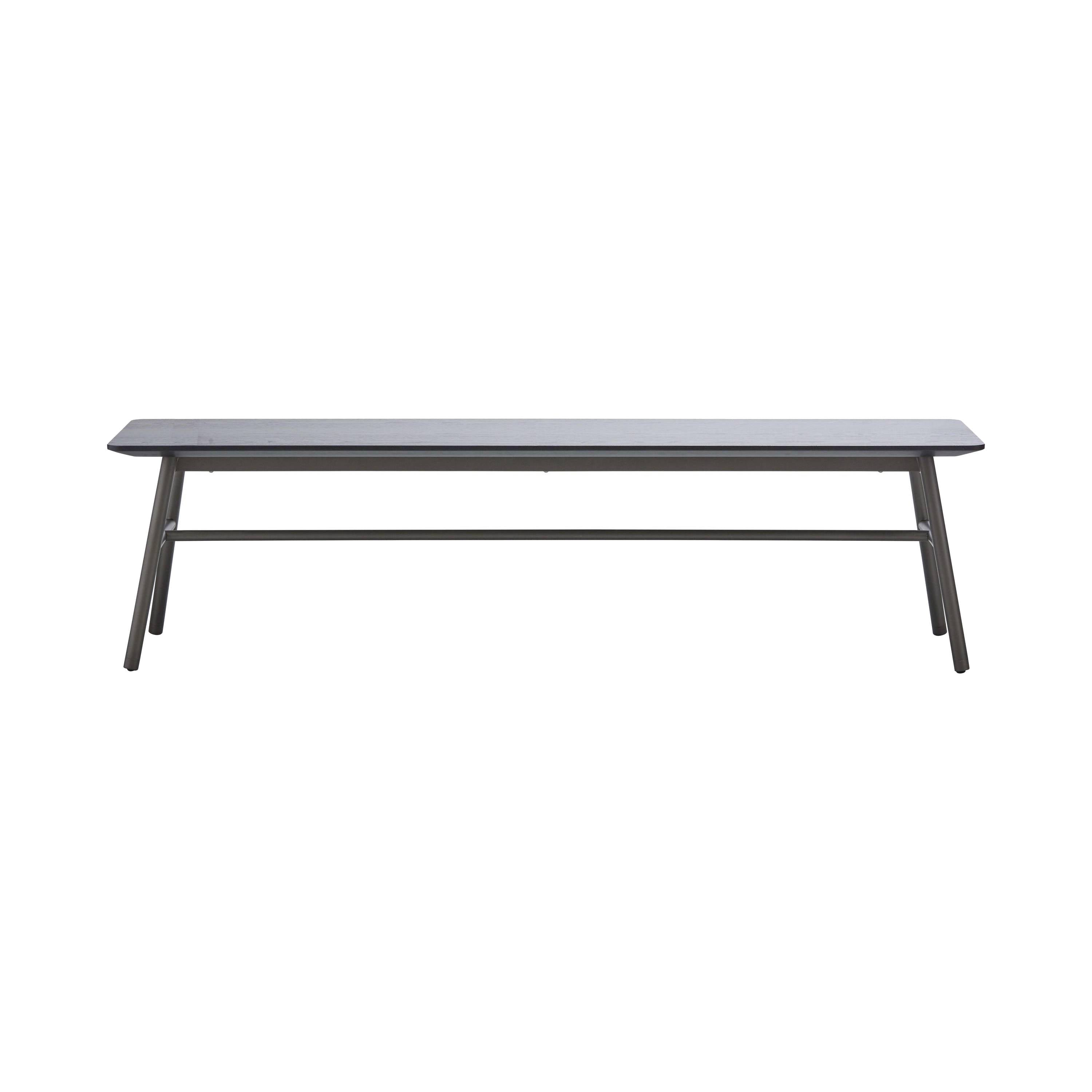 Holland Short Bench: Carbon Stained Ash + Pewter