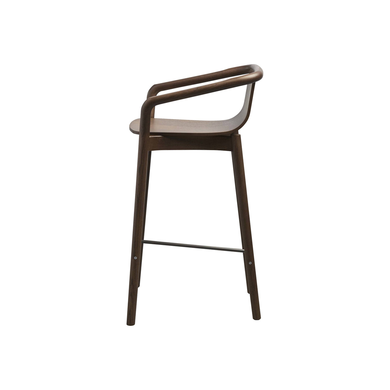 Thomas Bar + Counter Stool: Counter + Walnut Stained Ash + Black