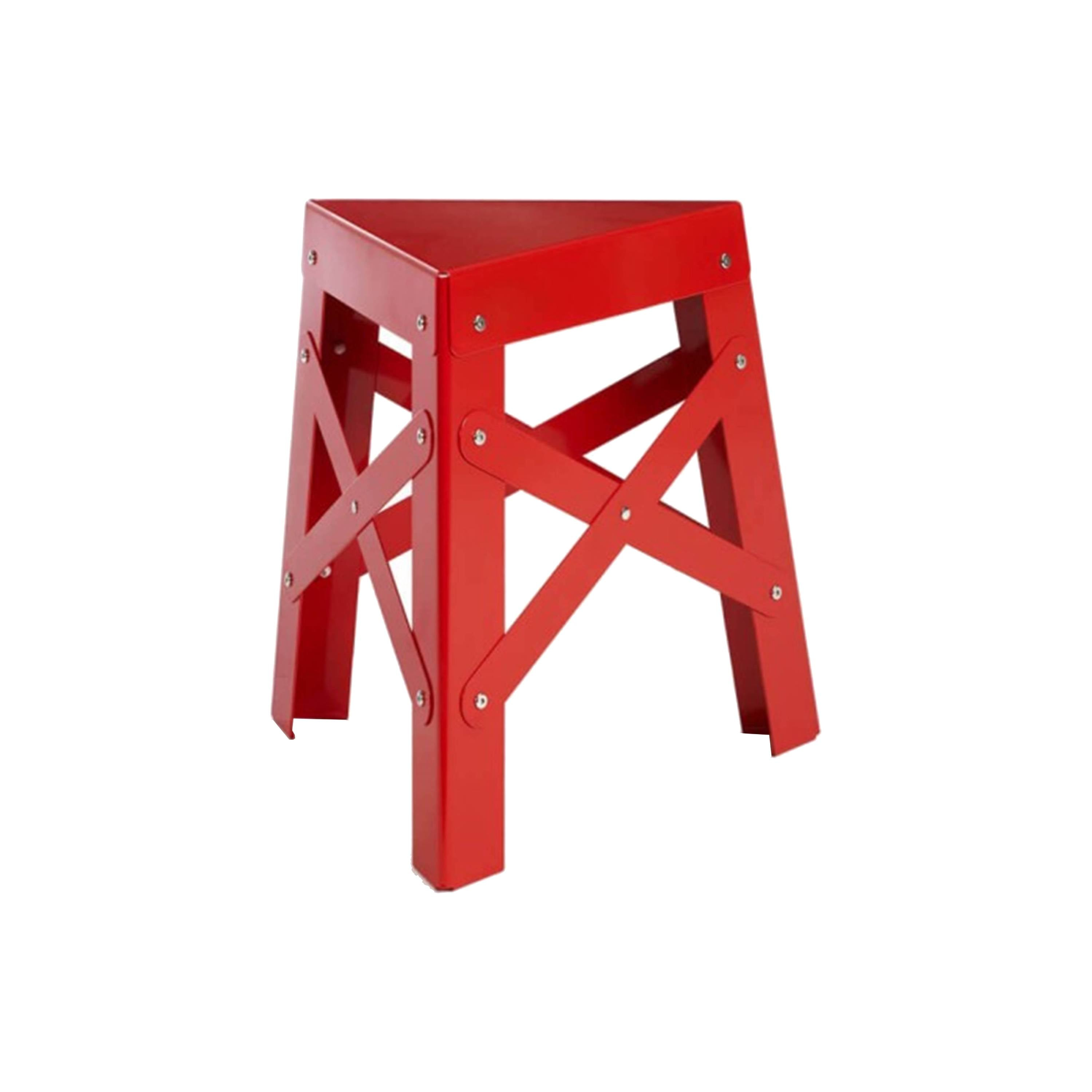 Eiffel Aluminum Stool: Red