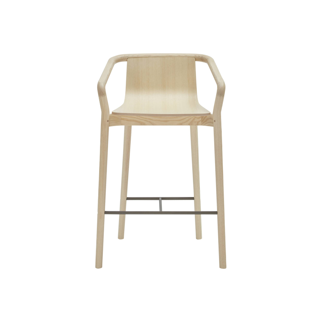 Thomas Bar + Counter Stool: Counter + Natural Stained Ash + Pewter