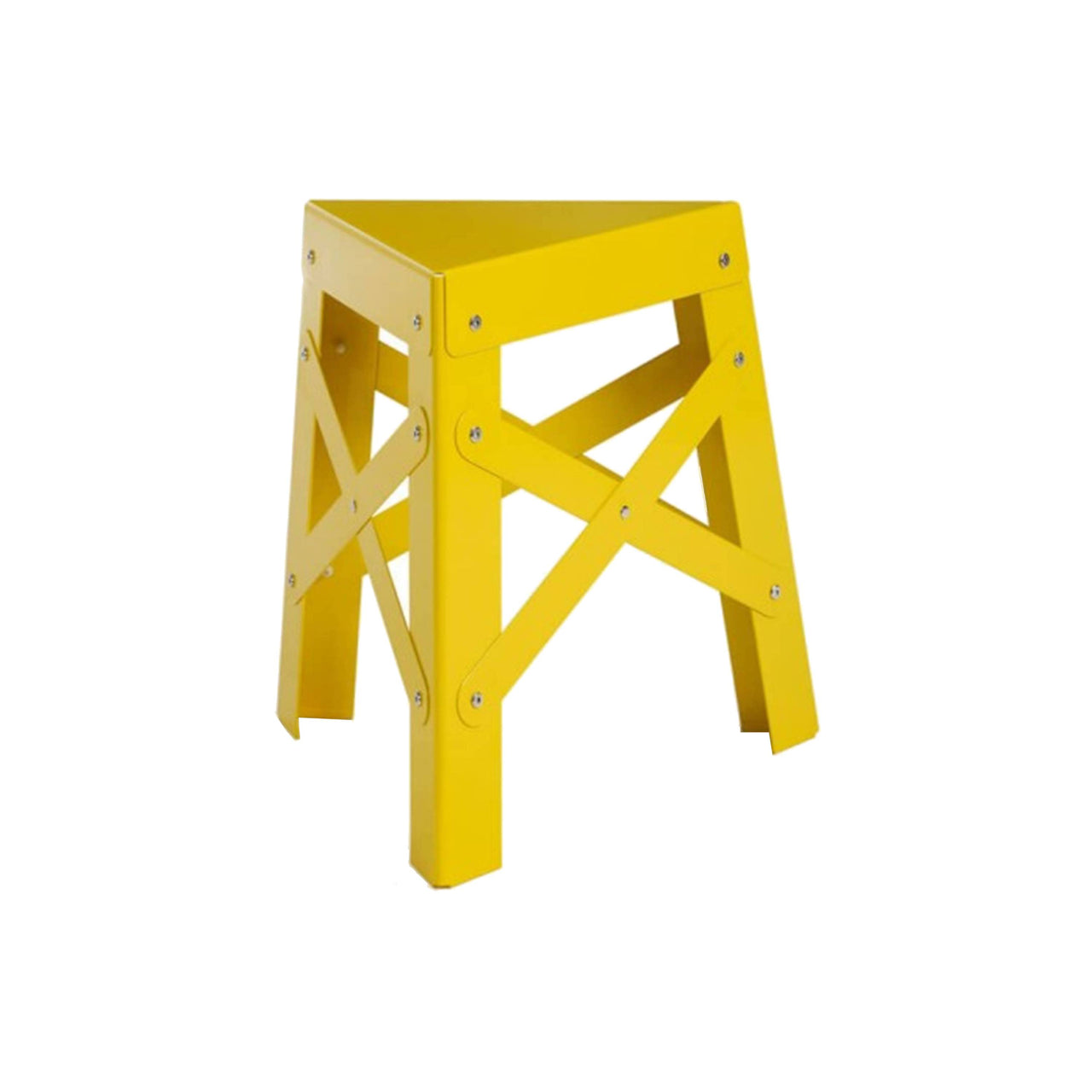 Eiffel Aluminum Stool: Yellow
