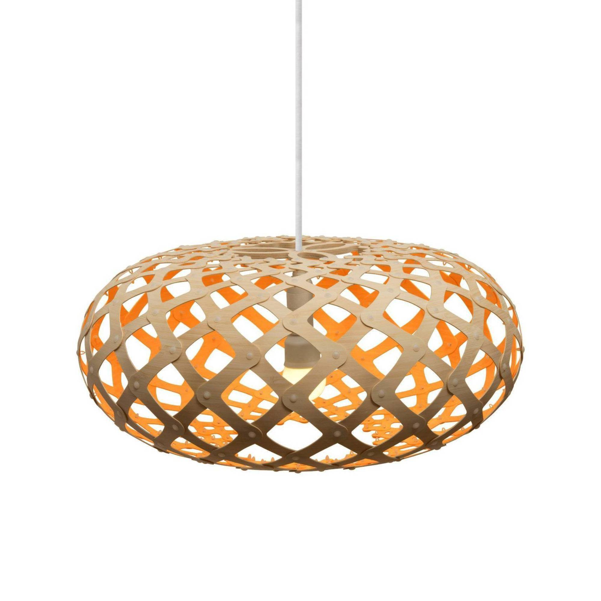 Kina Pendant Light: 600 + Orange