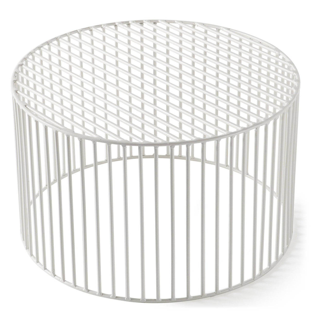 Tamburo Side Table: Large + Signal White