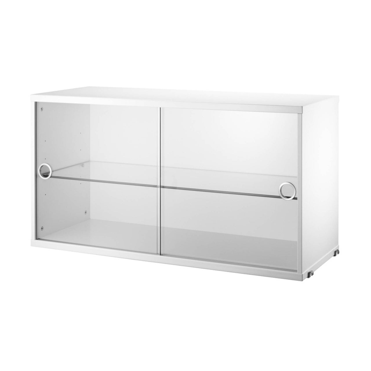String System: Display Cabinet with Glass Doors + White