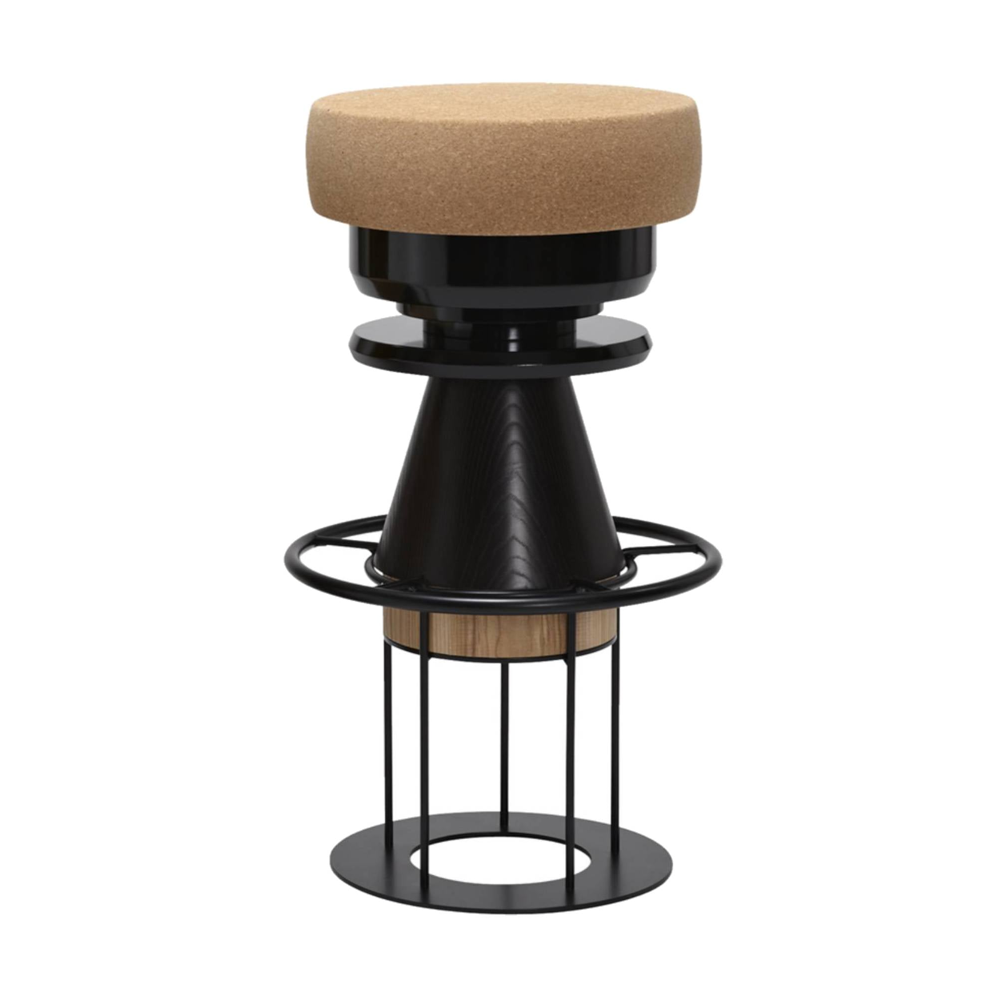 Tembo Stool: Bar + Black