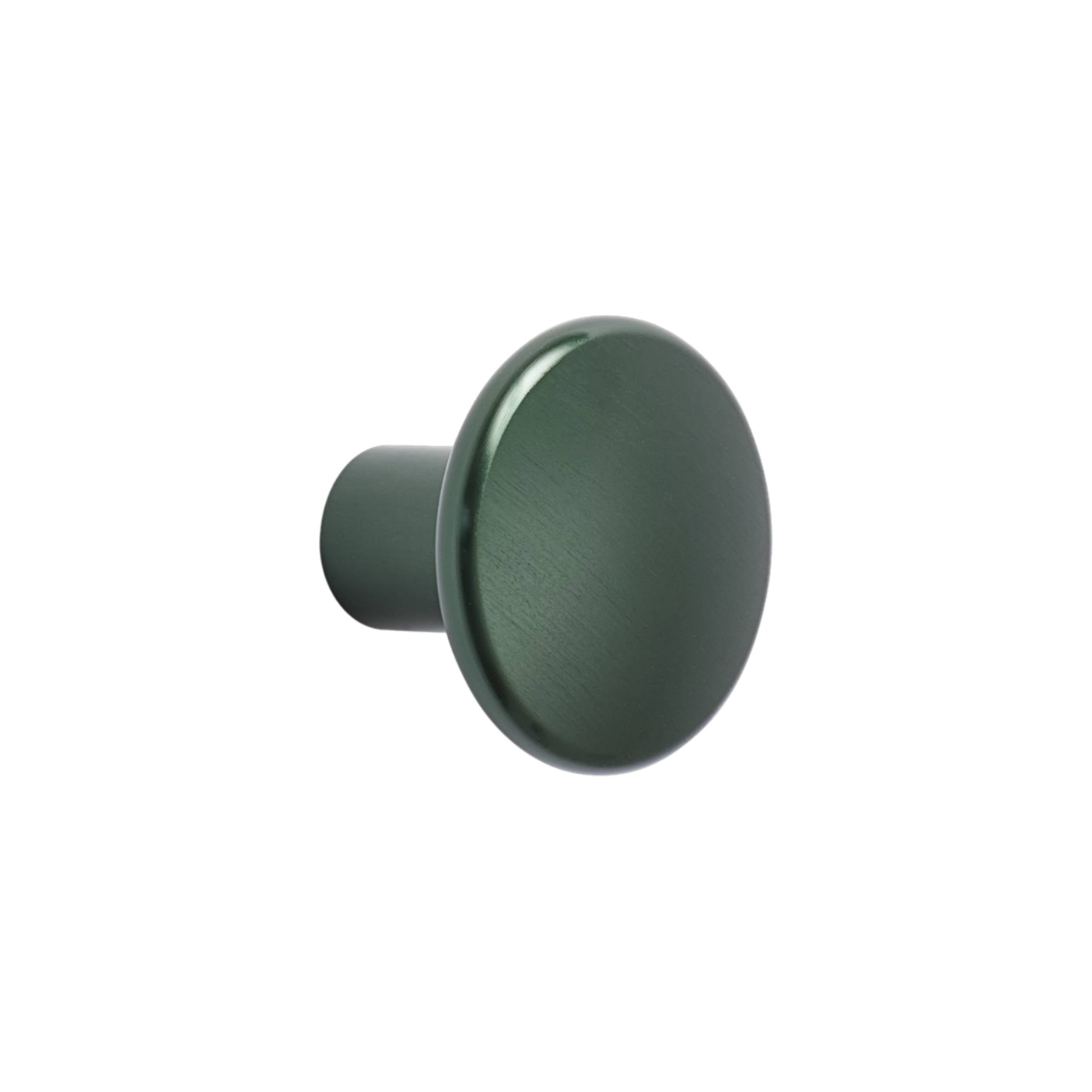 The Dots Metal Coat Hooks: Large Single Dot + Dark Green