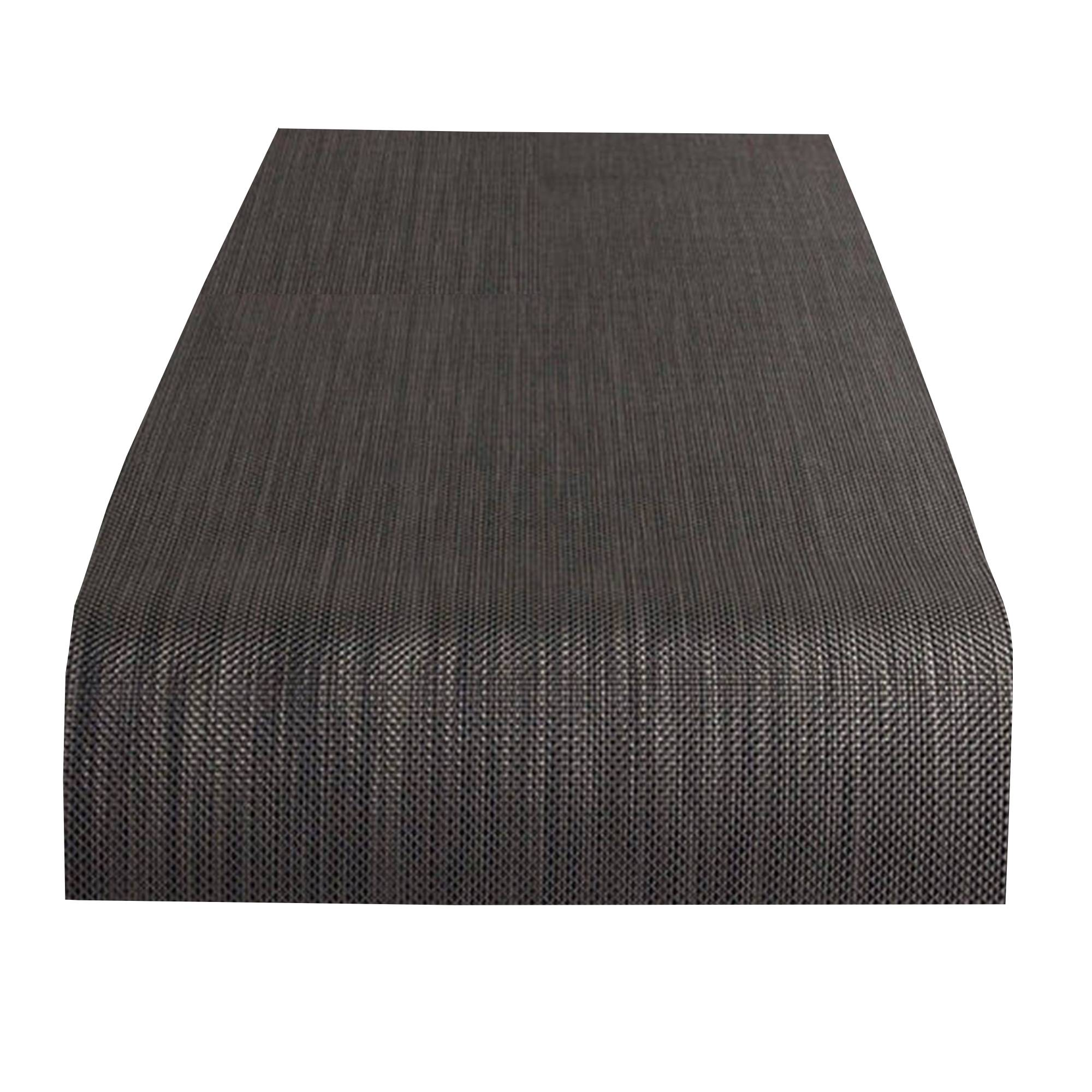 Mini Basketweave Table Runner: Light Grey