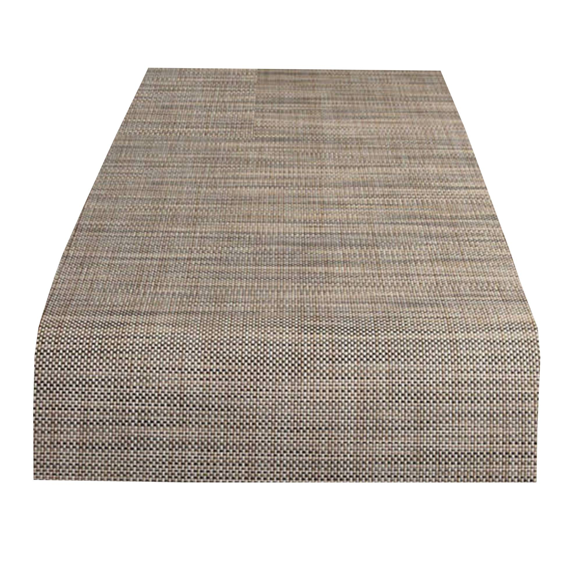 Mini Basketweave Table Runner: Linen