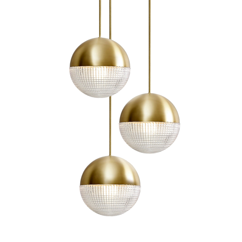 Little Lens Flair Chandelier: Brushed Brass Finish