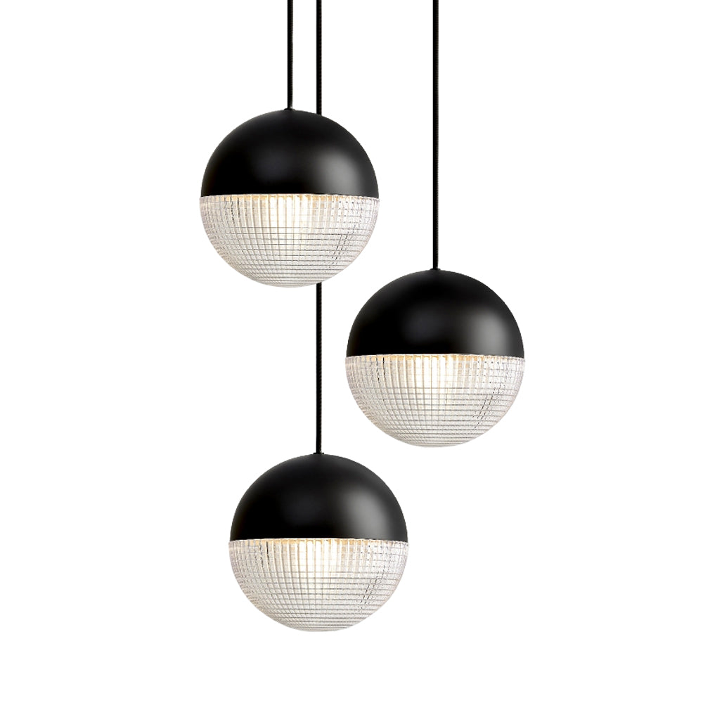 Little Lens Flair Chandelier: Matte Black Finish