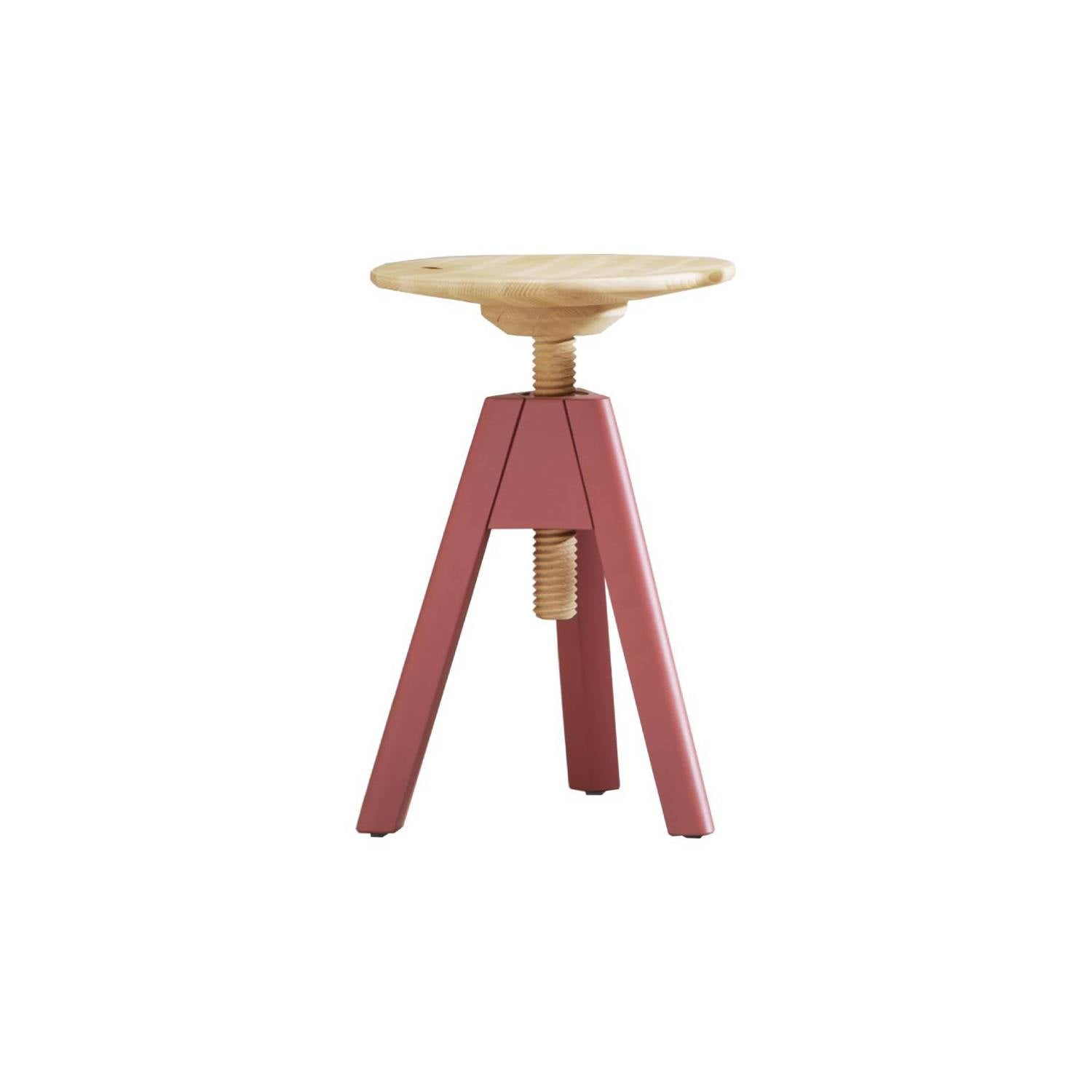 Vitos Stool: Low + Marsala Red