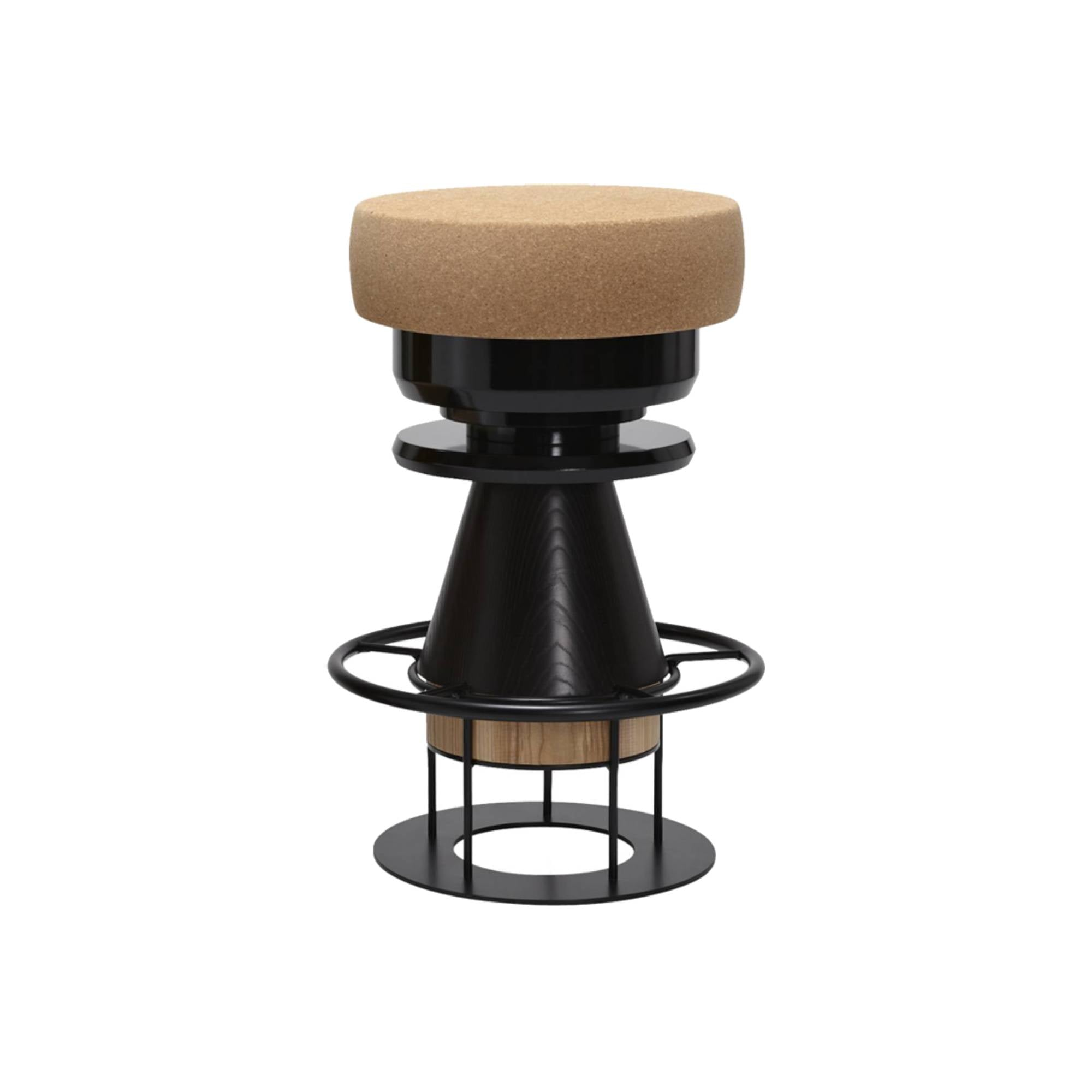 Tembo Stool: Medium + Black