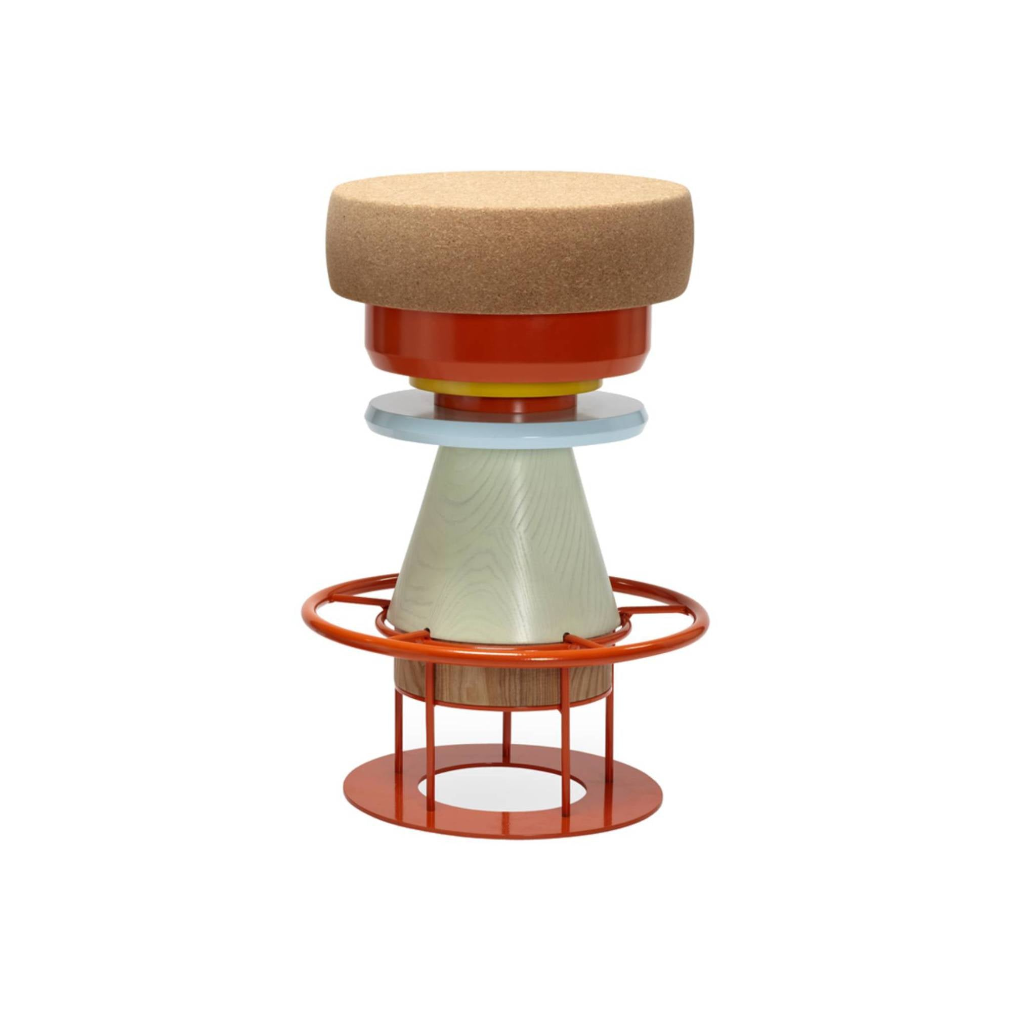 Tembo Stool: Medium + Multi Colors