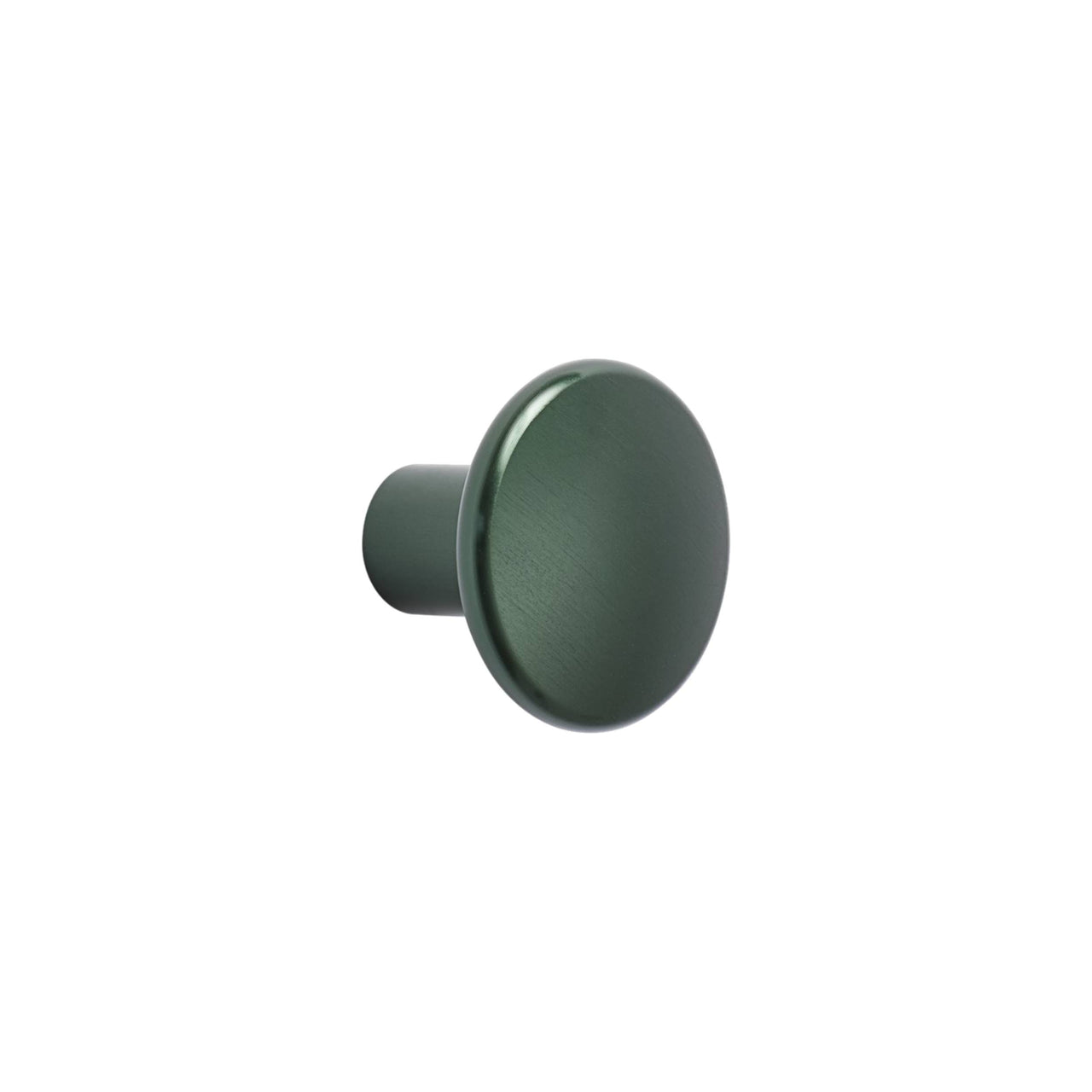 The Dots Metal Coat Hooks: Medium Single Dot + Dark Green