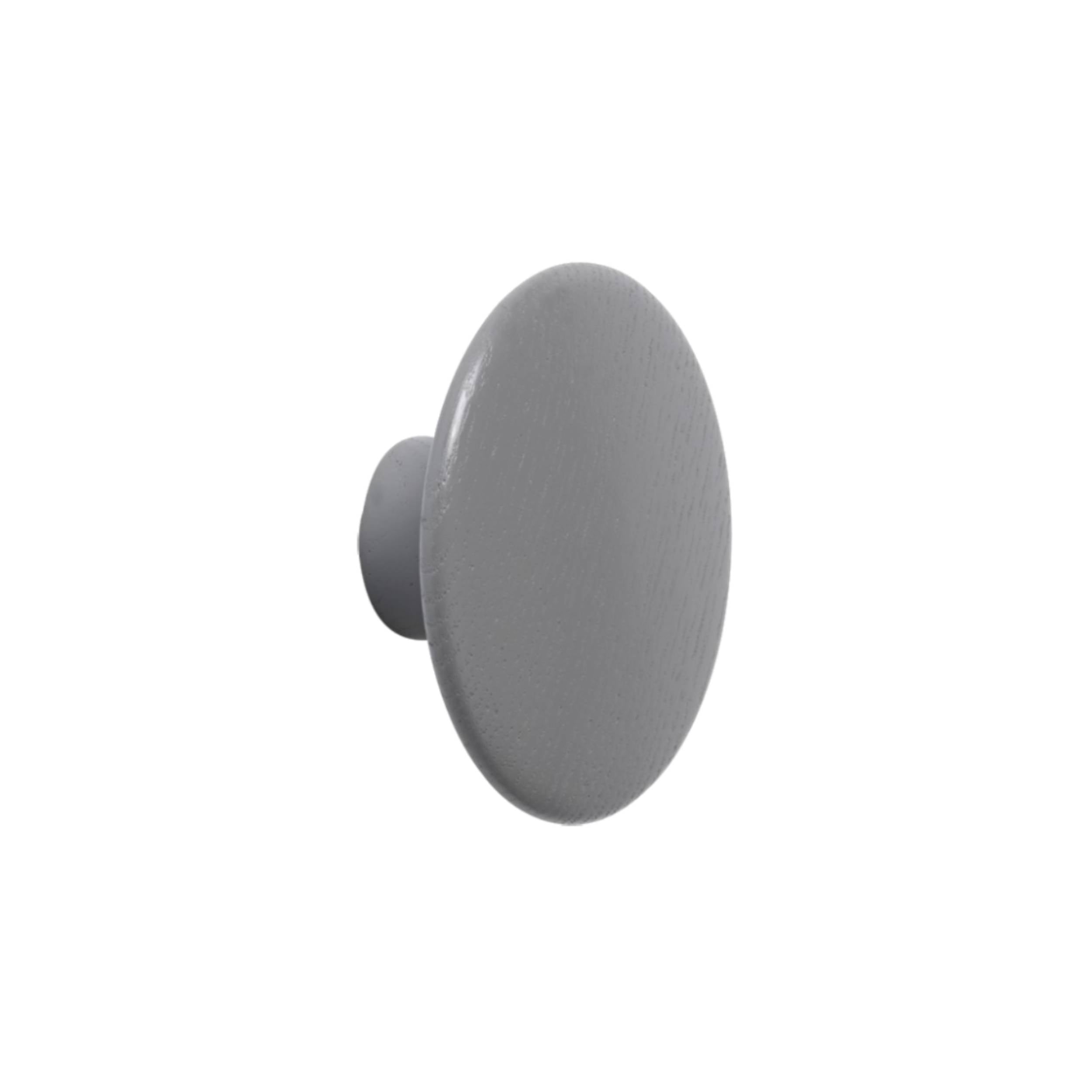 The Dots Wall Hooks: Dark Grey + Medium