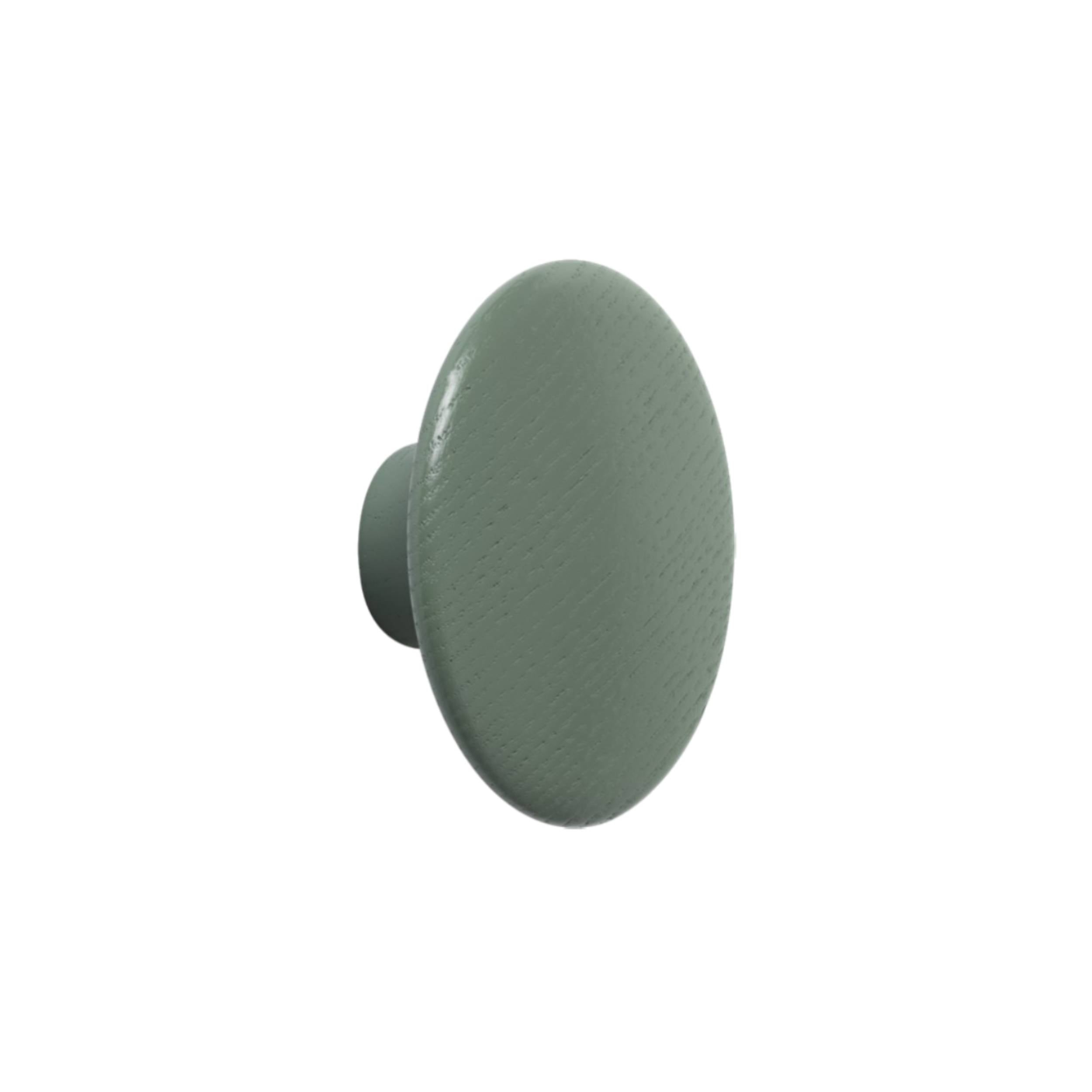 The Dots Wall Hooks: Dusty Green + Medium