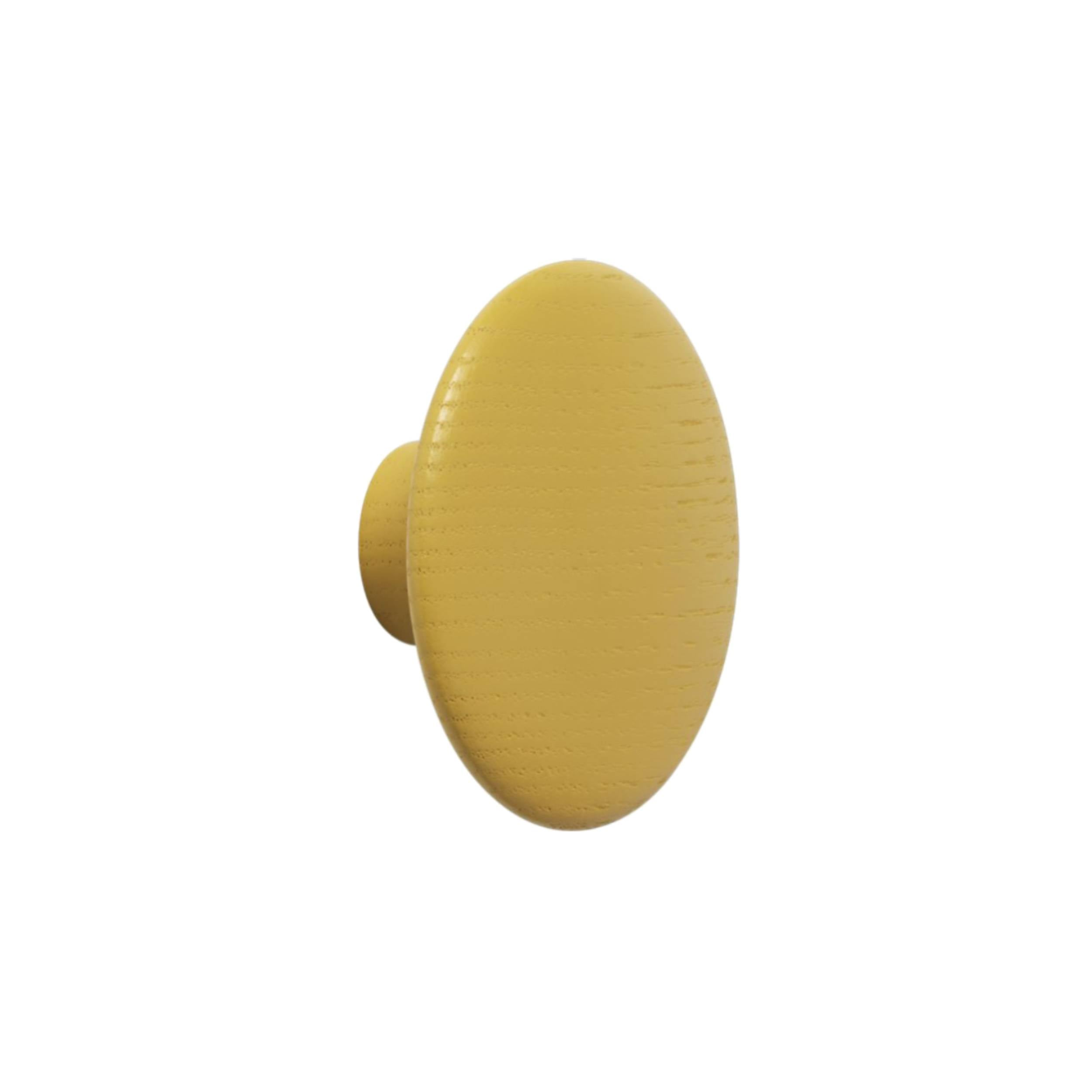 The Dots Wall Hooks: Mustard + Medium
