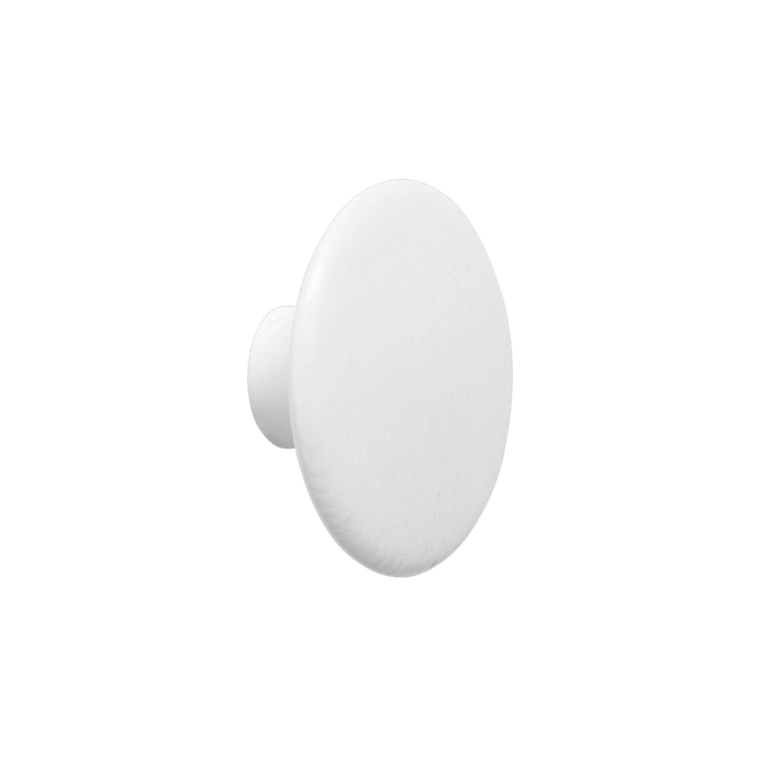 The Dots Wall Hooks: White + Medium