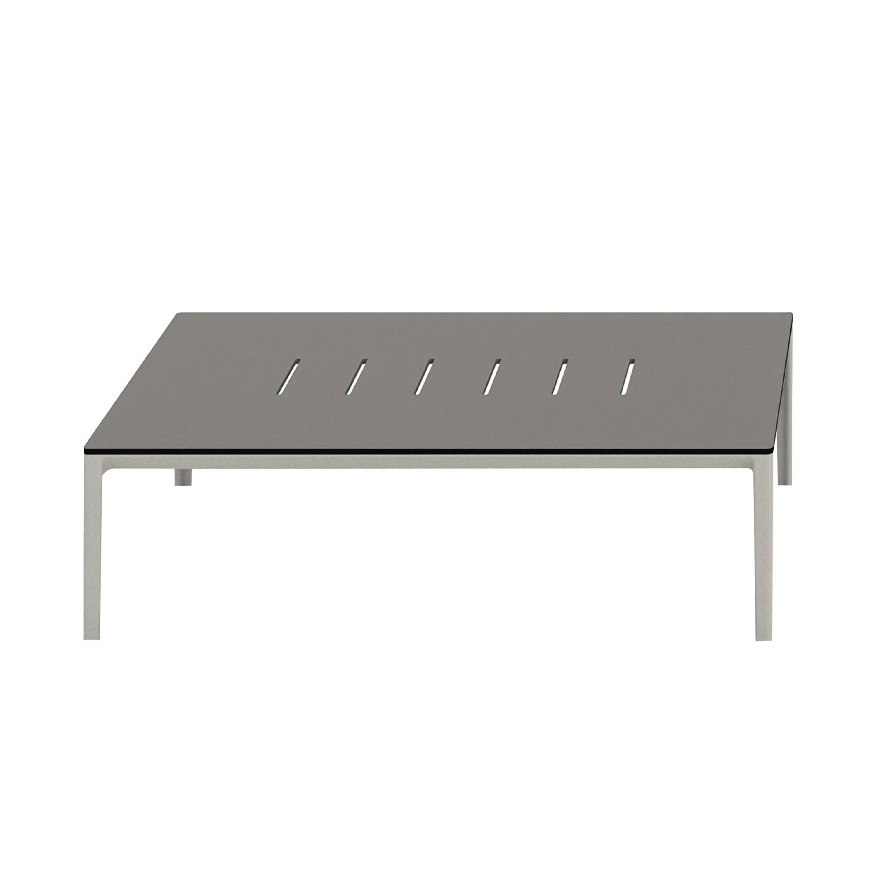 Outdoor Able Low Table: Rectangle + Polaris Gray