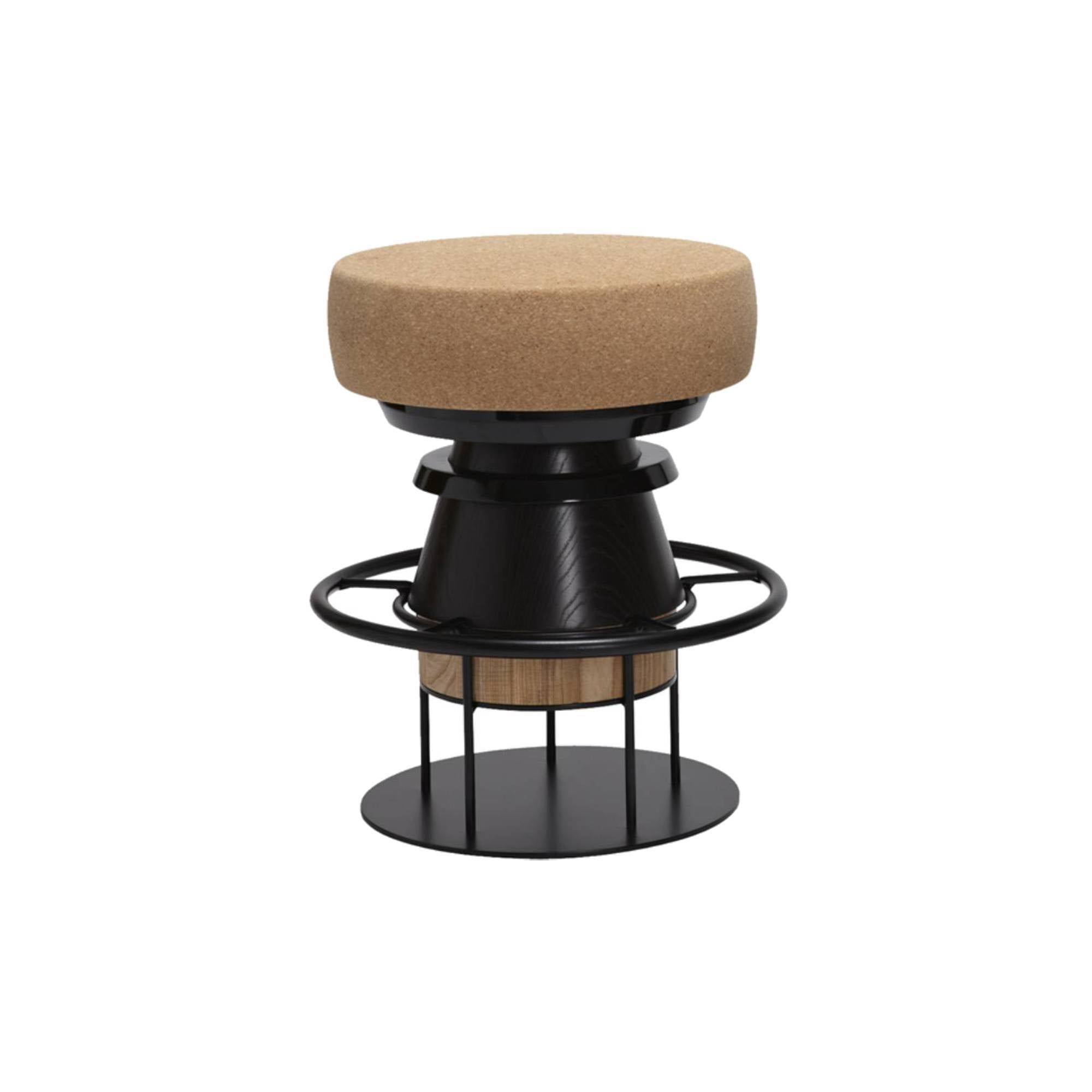 Tembo Stool: Low + Black