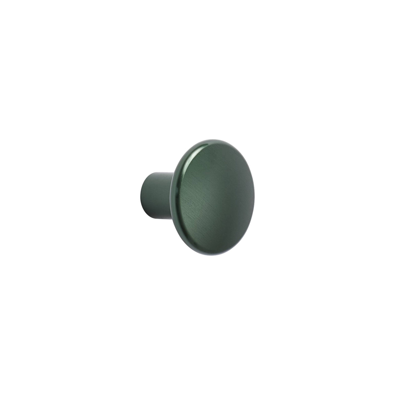 The Dots Metal Coat Hooks: Small Single Dot + Dark Green