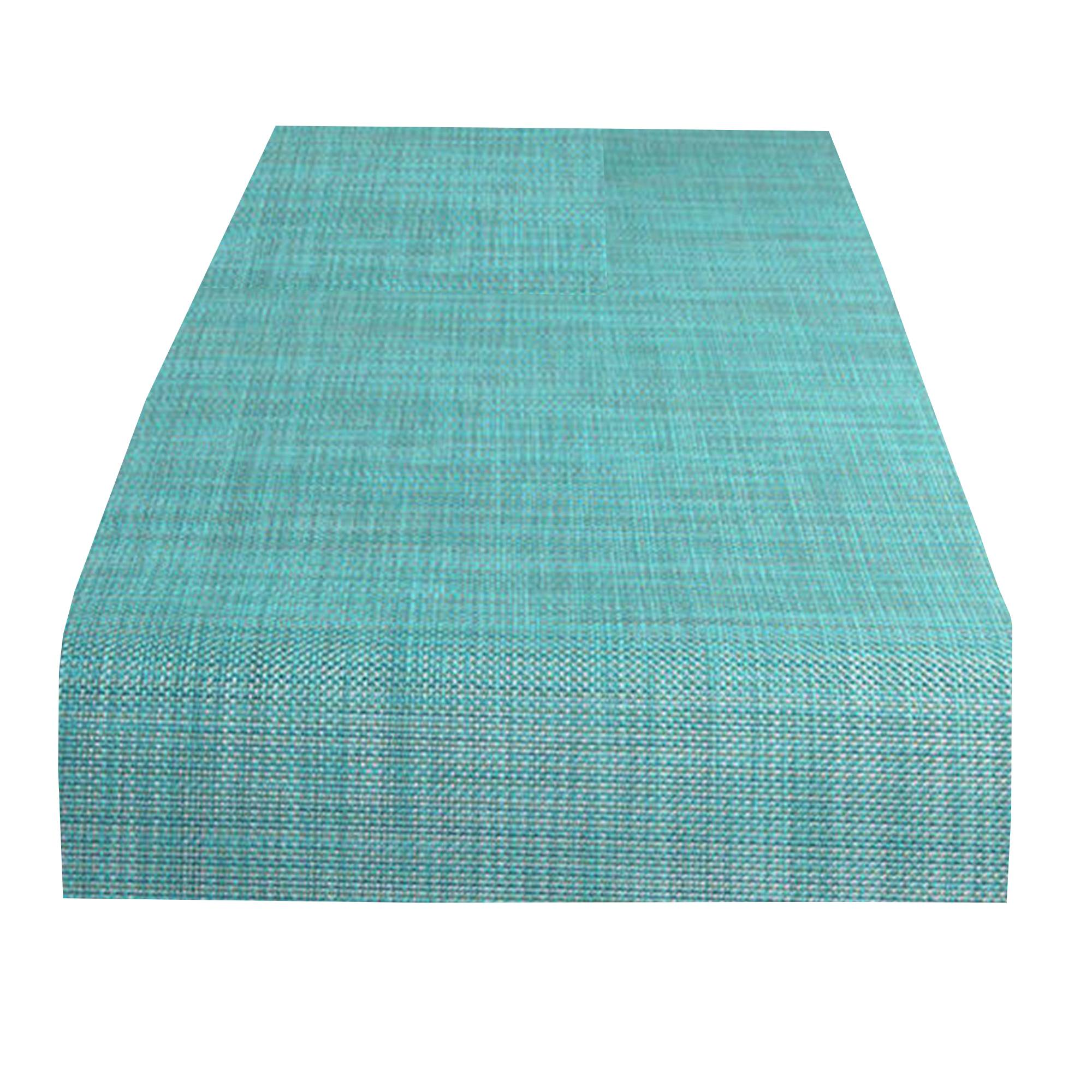 Mini Basketweave Table Runner: Turquiose