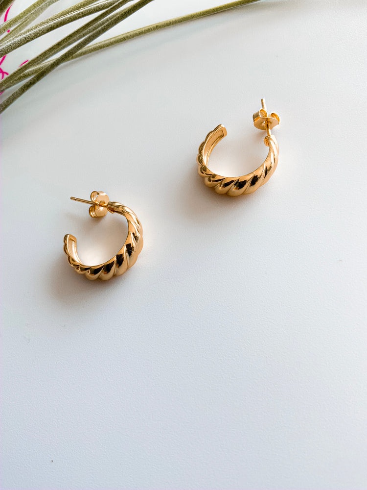 Dijon Gold Hoops Earrings