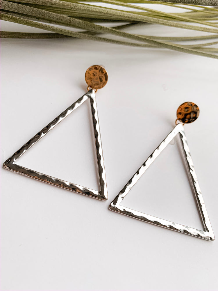 Maya triangular drop earrings. MORE COLORS