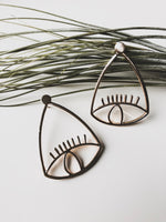"""Look at Me"" Silver Alloy Drop Earrings"